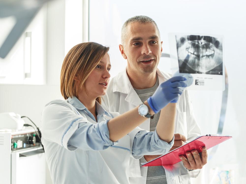 Doctors discussing patient